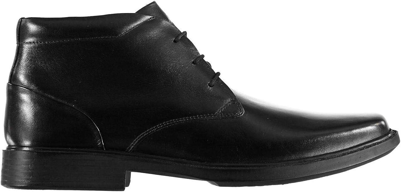 Kangol Castor Mid Top Formal Ankle Boots Mens Black shoes Footwear