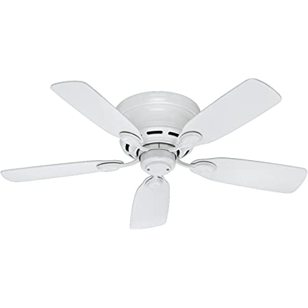 """Hunter Fan Company 51059 Hunter Indoor Low Profile IV ceiling Fan with Pull Chain Control, 42"""", White finish"""