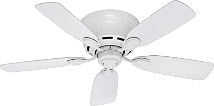 Hunter Indoor Low Profile IV Ceiling Fan, with pull chain control -  42 inch, White, 51059