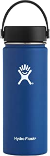 Hydro Flask Water Bottle - Stainless Steel & Vacuum Insulated - Wide Mouth with Leak Proof Flex Cap - 18 oz, Cobalt