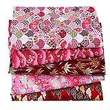 N/Y 5 Paquetes de Tela Japonesa Fat Quarters, 50 x 50 cm Tela Floral de Flor de...