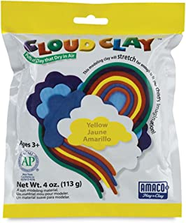 Cloud Clay 4 oz Modelling Clay, Yellow