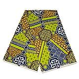 Afrikanischer Stoff – Grün/Blau Geometrisch –