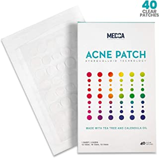 Acne Cover Patch - (40 Count) Pimple & Zit Blemish Treatment- Hydrocolloid Bandage, Tea Tree, CICA & Calendula Oil, Invisible Spot Patches Conceal Absorb, Protect & Soothe Acne, Breakouts & Blackheads