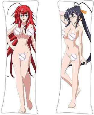 LOliU8 Akeno Himejima Rias Gremory - High School DxD Princess Body Throw Pillow Cover Natural Velvet 105cm x 40cm(41.3in x15.