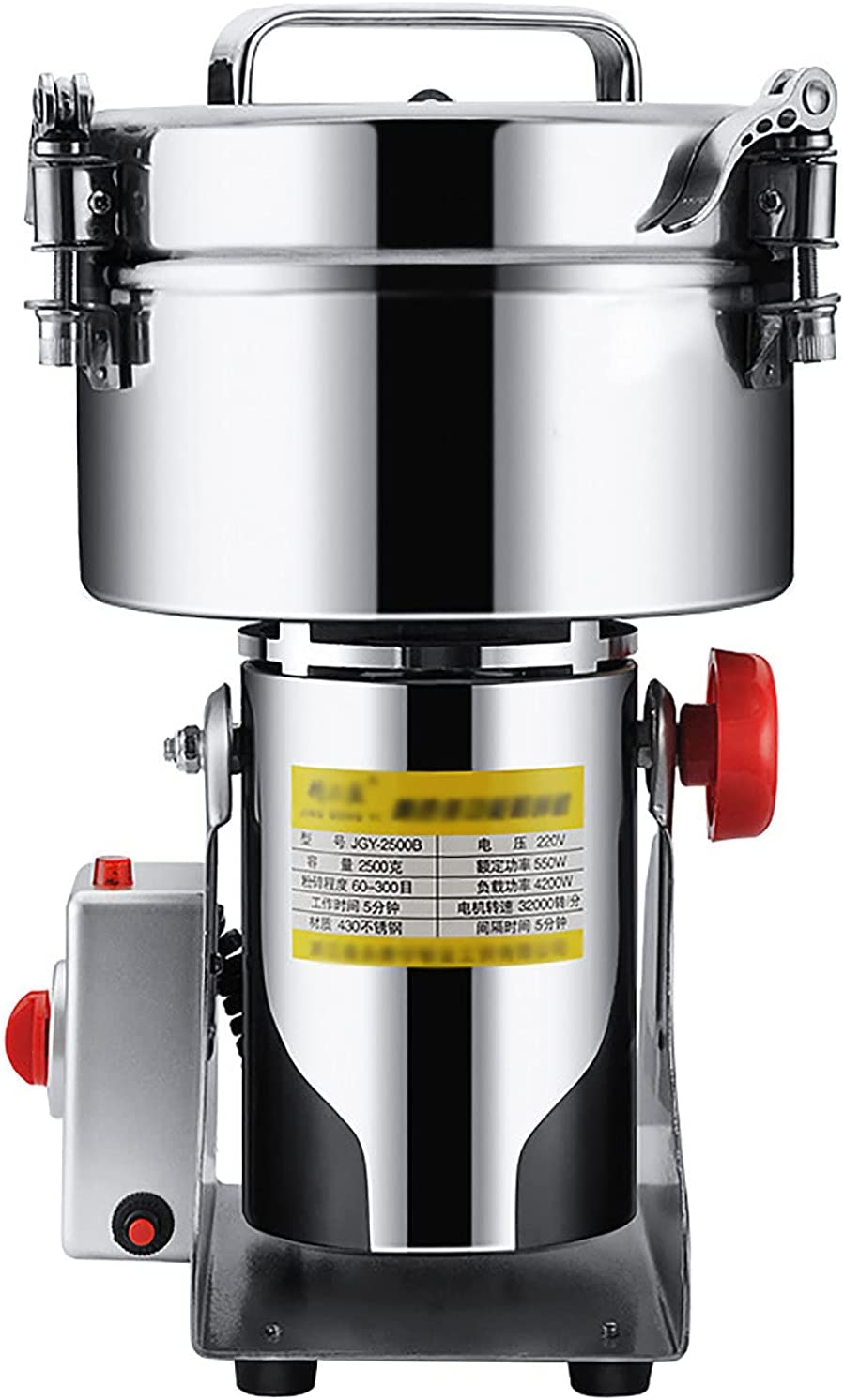 Electric Grain Mills Grinder Max 59% OFF Cereal Speed Herb Ranking TOP5 Stainless High St