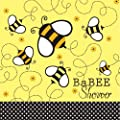 Creative Converting Baby Shower Buzz BaBee 18 Count 2-Ply Paper Lunch Napkins