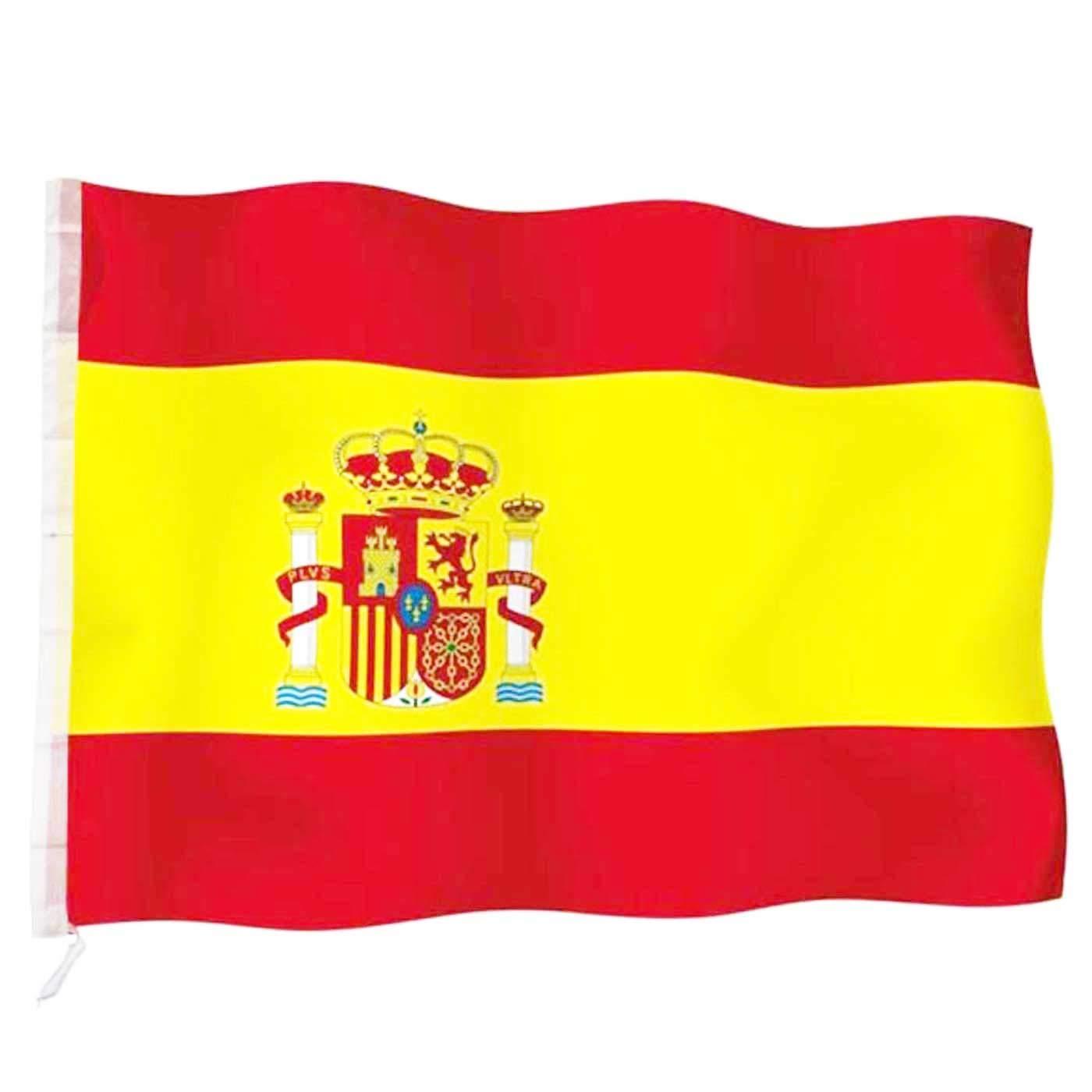 Acan Base de Bandera con Palo 200 cm más Bandera de España 120 x ...