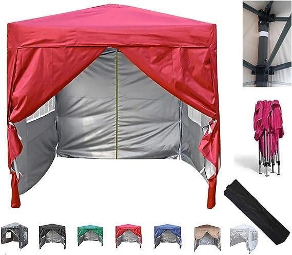 MCC B01MPZFYYL Home Premier-Cenador Plegable Impermeable (2 x 2 m), Color Rojo, Rosso
