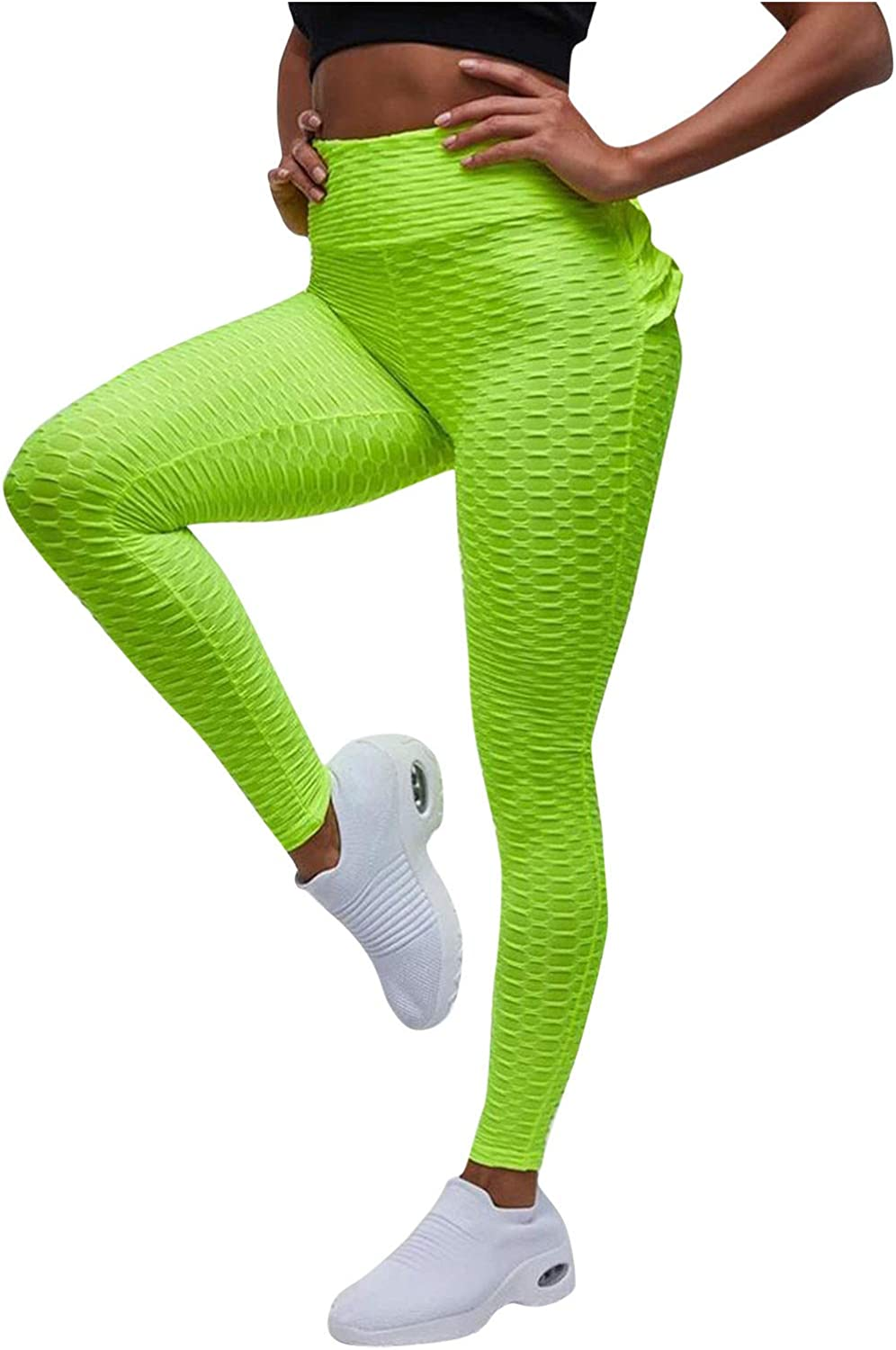 Hotkey Yoga Pants for Women, Solid Stretch Peach Hip Fitness Sports Leggings Running Exercise Casual Pants