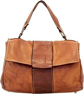 BZNA Bag Santa cognac Italy Designer Damen Handtasche Ledertasche Schultertasche Tasche Leder Shopper Neu