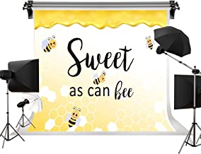 Kate 7x5ft/2.2m(W) x1.5m(H) Sweet As Can Bee Backdrop Baby Shower Theme Banner Background Yellow Honeycomb Backgrounds Spoted Boy Girl Gender Surprise Party Decorations Photo Booth Banner