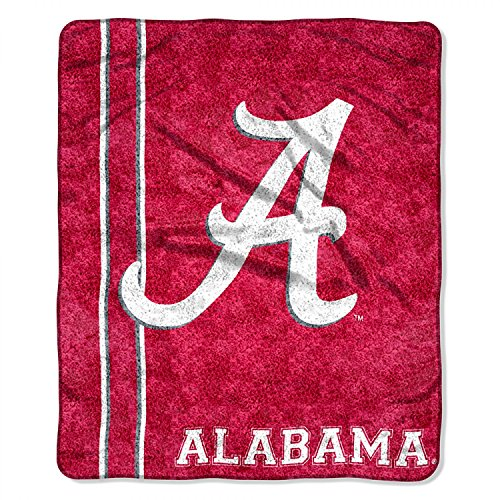 Officially Licensed NCAA Alabama Crimson Tide 'Jersey' Sherpa on Sherpa Throw Blanket, 50' x 60', Multi Color