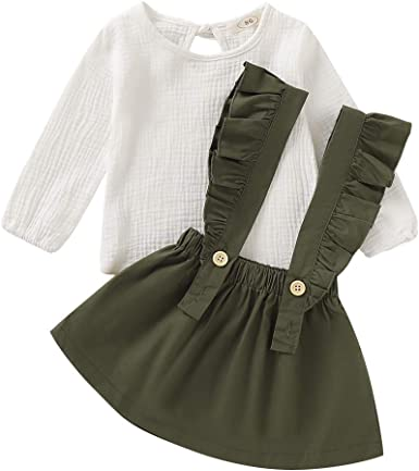 Tianhaik Conjunto de Vestido de niña niño Primavera Verano 1 ...