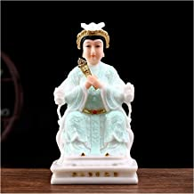 Feng Shui Statues Buddha Statues for Home 30cm/11.8 Inch Artificial Jade Feng Shui Buddha Hand-Carved Nice Gift Living Roo...