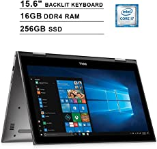 2019 Dell Inspiron 15 5579 15.6 Inch FHD 2-in-1 Touchscreen Laptop (8th Gen Intel Quad Core i7-8550U up to 4.0 GHz, 16GB RAM, 256GB SSD, Intel UHD Graphics 620, Backlit Keyboard, Windows 10) (Renewed)