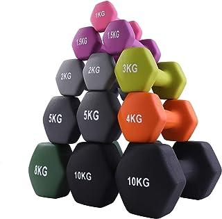 CUQNORL ダンベル 2個セット ノンスリップダンベル カラーダンベル 鉄アレイ ソフトゴムコーティング 筋トレ 男女兼用 1kg/1.5kg2kg/3kg/4kg/5kg/8kg/10kg