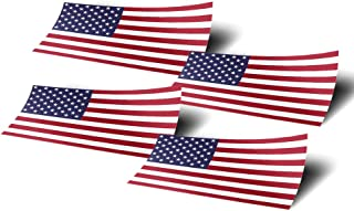 United States of America USA 4 Pack of 4 Inch Wide Country Flag Stickers Decal for Window Laptop Computer Vinyl Car Bumper American 4