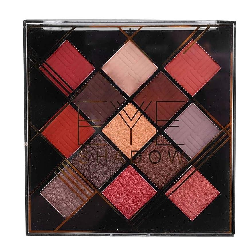 潤滑する介入する当社13色アイシャドウパレット アイシャドウパレット 化粧マット グロス アイシャドウパウダー 化粧品ツール (1020-2-02#)