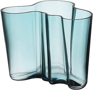 Iittala Alvar Aalto Glass Vase 160 mm Sea Blue