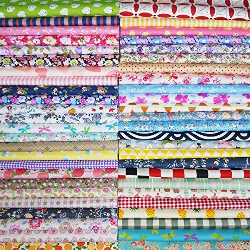 50Pcs Baumwollstoff Patchwork Stoffe DIY Gewebe Quadrate Baumwolltuch Stoffpaket zum Nähen mit vielfältigem Muster 30x30cm Neue Form