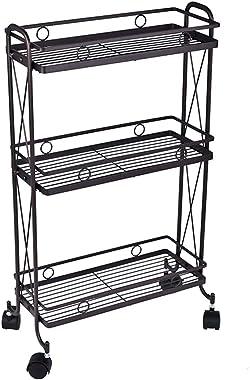 hourseat Kitchen Rolling 3-Tier Storage Cart on Wheels, Storage Rack