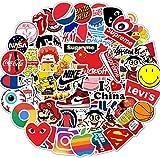 Etitulaire 100 Pcs Brand Stickers,Autocollant pour Skatebord Vélo Ordinateur Portable Guitaire Graffi Autocollant pour Enfant
