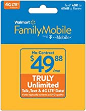Walmart Family Mobile $49.88 Truly Unlimited Refill Card (Mail Delivery)
