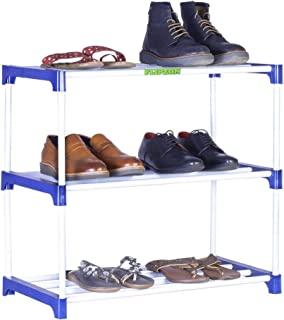 FLIPZON Multipurpose Rack Organizer for Shoe/Clothes/Books - (Need to Be Assemble - DIY) Rust-Proof - Small - 3 Shelve