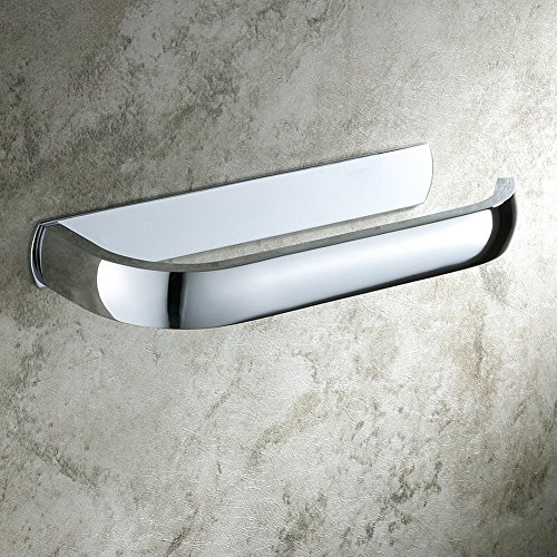 Aothpher Wand-Toilettenpapierrollenhalter Badezimmer-Gewebe-Rack Messing Verchromte, Chrom Toilettenpapierhalter, 180x27x75mm