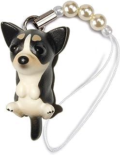 ペットラバーズ 犬種 Dog 92 Chihuahua スムースコートチワワ ブラックホワイト ビーズ ストラップ DN-6003