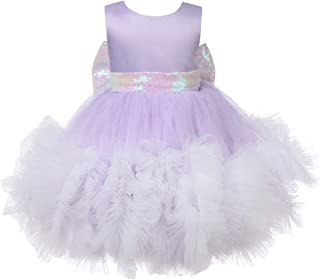 ZTXHRS Baby Girl Dress Sequin Christening Baptism Gowns Formal Dress for Wedding Pageant Party