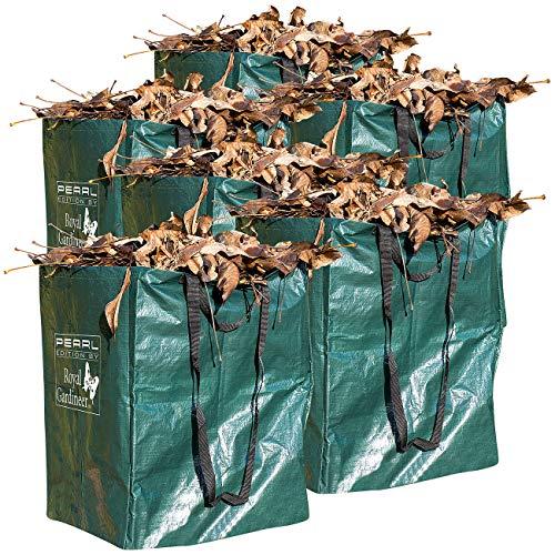 Royal Gardineer Laubsack: 6er-Set Gartensäcke für Laub & Co, bis 120 Liter & 25 kg, rechteckig (Gartensack Laubsack)