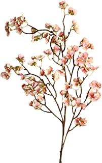 Dolloress Artificial Silk Flower Bouquet Plants Floral Bunch of Cherry Peach Blossom Home Decor Perfect for Home Kitchen O...