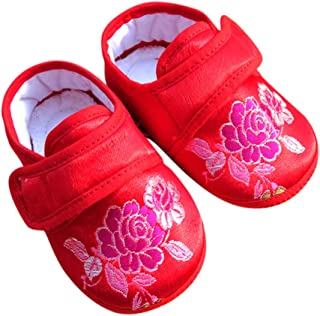 CRB Fashion Baby Newborn Infant Girls Chinese New Years Flower Butterfly Asian Sock Shoes