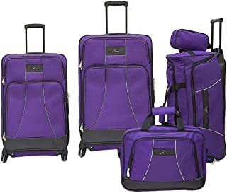 Skyway Soft Trolley Luggage, 5 Pc Set, with 4 sppiner wheels