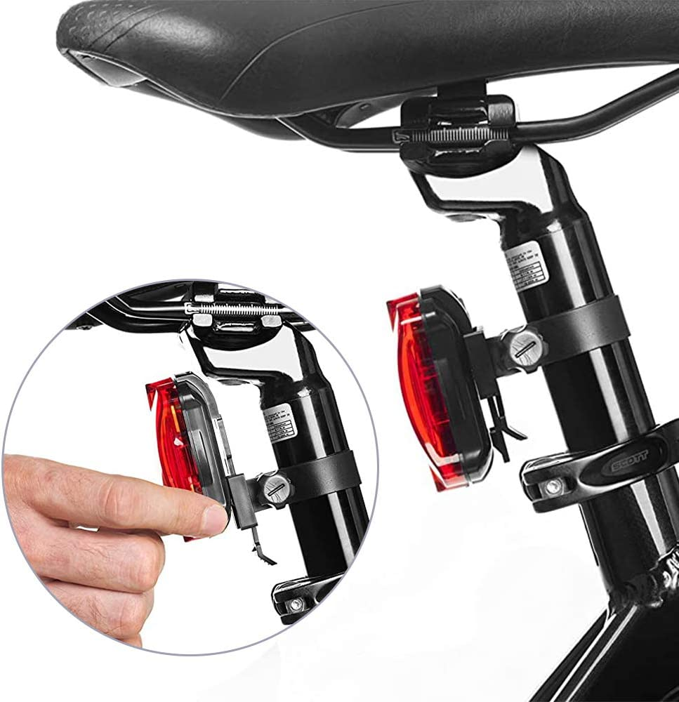 Easy to Mount Headlight and Taillight with Quick Release System HHD Bike Light Set Best Front /& Back Illumination Super Bright LED Lights for Your Bicycle Fits All Bikes