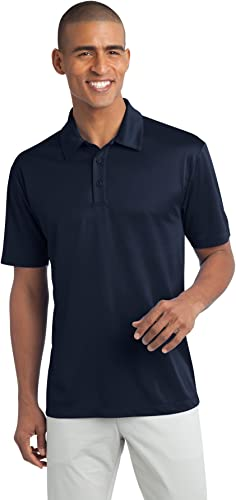 Port Authority Hommes's Tall Silk Touch Perforhommece Polo 4XLT Navy