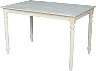 Best unfinished kitchen table Reviews