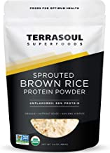 Terrasoul Superfoods Organic Sprouted Brown Rice Protein Powder, 1.5 Pounds