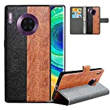 LFDZ Compatible with Huawei Mate 30 Pro Case,PU Leather Huawei Mate 30 Pro Wallet Case with [RFID Blocking],2 in 1 Magnetic Detachable Flip Slim Cover Case for Huawei Mate 30 Pro,Black/Brown
