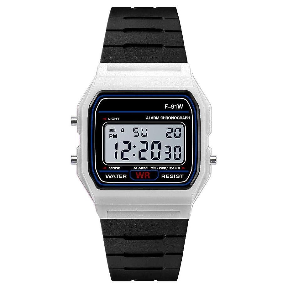 Charberry 2019 Men Waterproof Dial Digital Display Calendar Alarm Outdoor Wrist Watch Lot Soft