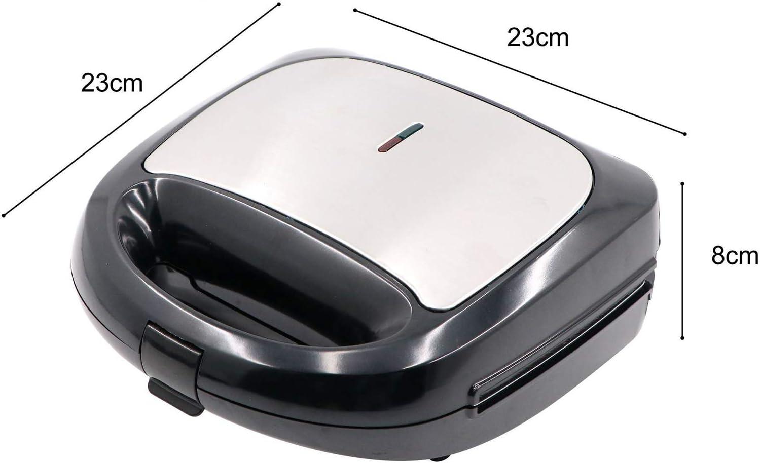 Wafelijzer 3-in-1 Sandwich-broodrooster Panini-maker Met Afneembare Antiaanbakplaten Panini-persgrill Compact Roestvrijstalen Ontwerp A