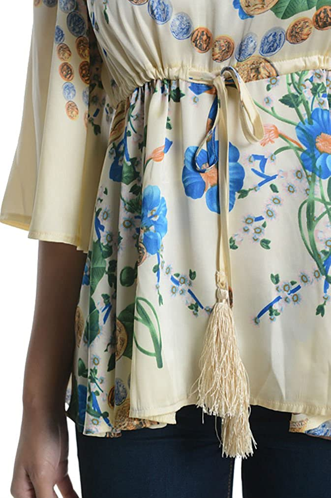 Aryeh Beautiful Ladies Floral Printed Blouse