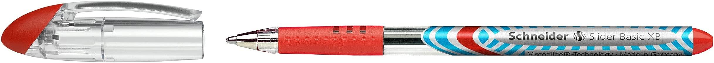 Schneider Slider Basic Ballpoint Pen - XB Red