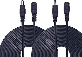 Kabenjee 2X 10m/33ft DC-Netzteil-Verlängerungskabel,5.5mm x 2.1mm DC Verlängerung Verbinder Draht für LED Streifen-CCTV-Überwachungskameras-Auto,Monitore-Ip Kamera DVR,AHD Überwachungskamera Systeme