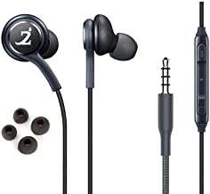 ZAMZAM PRO Stereo Headphones Works for vivo V11 Pro with Hands-Free Built-in Microphone Buttons + Crisp Digital Titanium C...