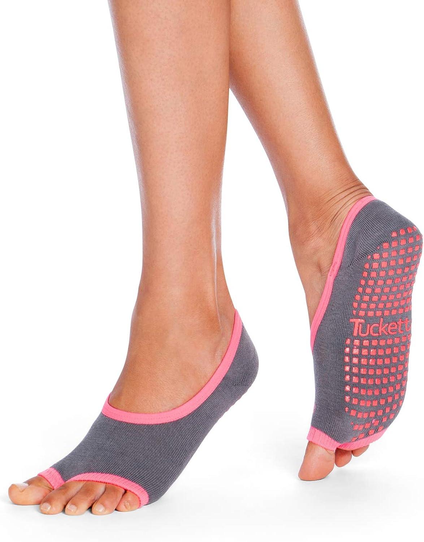 Ballerina El Paso Mall Style Tucketts Yoga Pilates Socks Toeless 5 ☆ popular Grips with