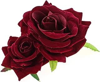 Best burgundy rose hair clip Reviews