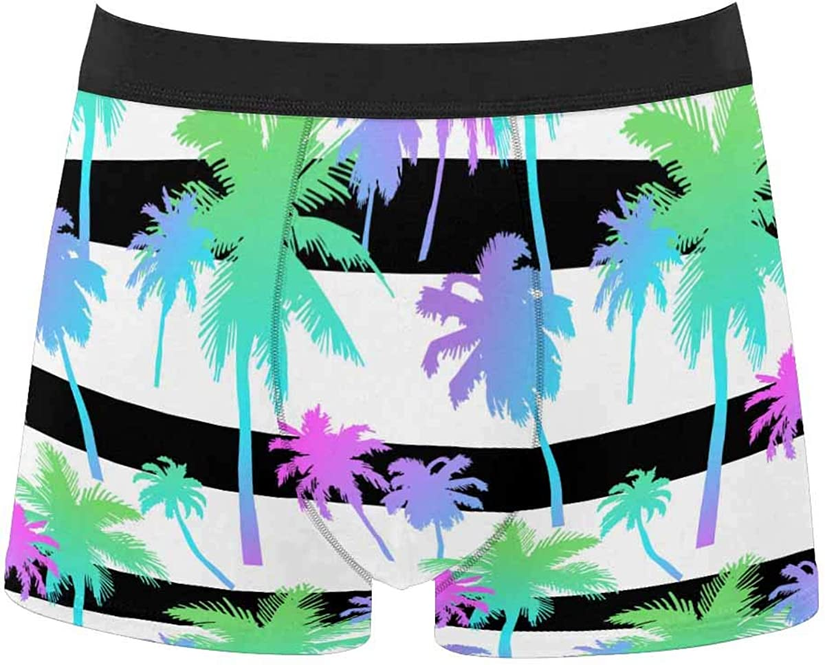 InterestPrint All Over Print Classic Fit Boxer Briefs for Men, Youth Pizza Addict Cat Background